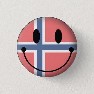Norway Smiley 3 Cm Round Badge