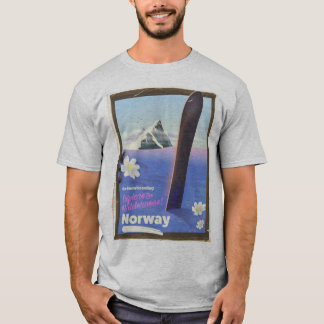 Norway Snowboarding vintage style travel poster T-Shirt