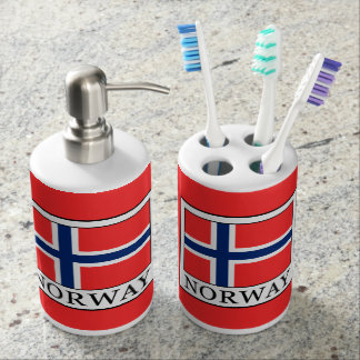 Norway Soap Dispenser And Toothbrush Holder