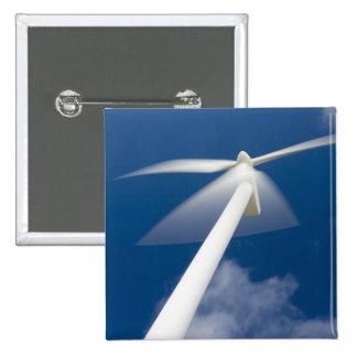 Norway, Sogn og Fjordane. Wind mill at Kråkenes. 15 Cm Square Badge