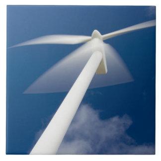 Norway, Sogn og Fjordane. Wind mill at Kråkenes. Large Square Tile