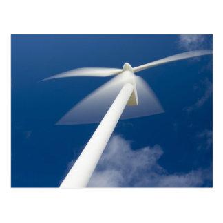 Norway, Sogn og Fjordane. Wind mill at Kråkenes. Postcard