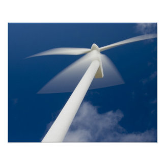 Norway, Sogn og Fjordane. Wind mill at Kråkenes. Poster