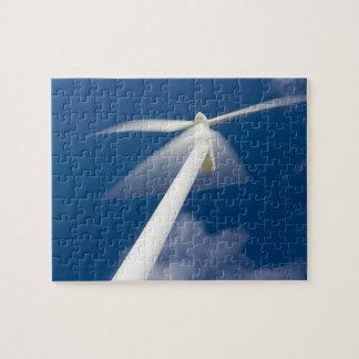 Norway, Sogn og Fjordane. Wind mill at Kråkenes. Puzzles