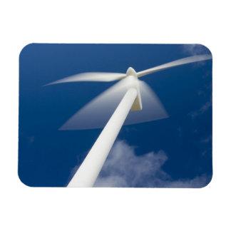 Norway, Sogn og Fjordane. Wind mill at Kråkenes. Rectangular Photo Magnet