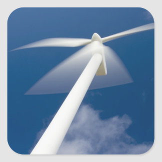 Norway, Sogn og Fjordane. Wind mill at Kråkenes. Square Sticker