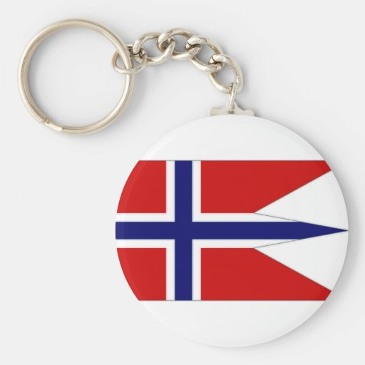 Norway State Flag Key Chain