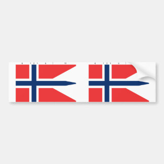 Norway State With Proportions, Norway Bumper Sticker