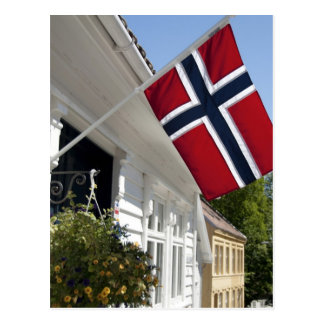 Norway, Stavanger. Historic downtown views. Postcard