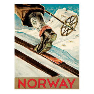 Norway The Home of Skiing Vintage Postcard