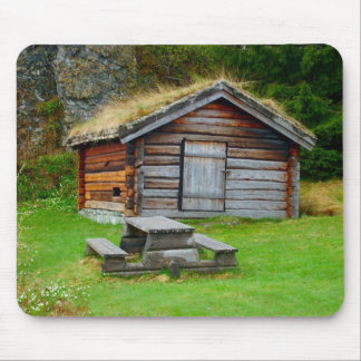 Norway, Traditional rural wooden building Mouse Pad