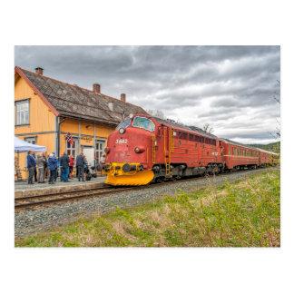 Norway: Veteran diesel locomotive at Meråker Postcard