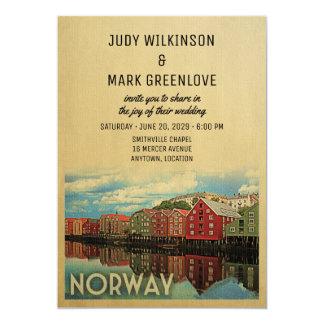 Norway Wedding Invitation Norwegian