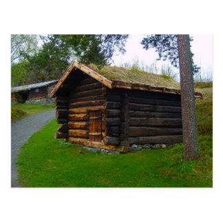 Norway, Wooden hut in the high summer pastures Postcard