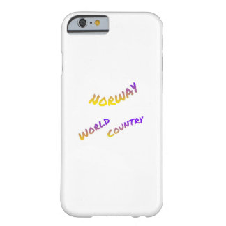 Norway world country, colorful text art barely there iPhone 6 case