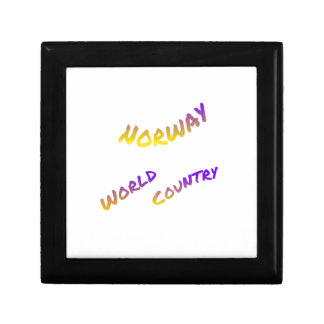 Norway world country, colorful text art gift box