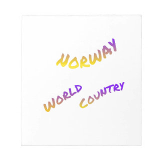 Norway world country, colorful text art notepad