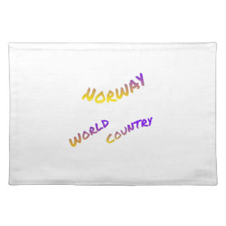 Norway world country, colorful text art placemat
