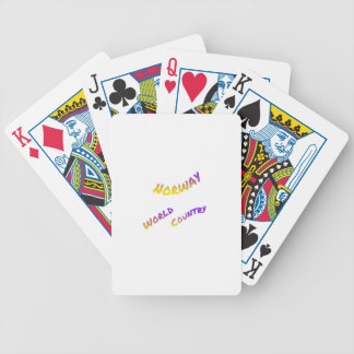Norway world country, colorful text art poker deck