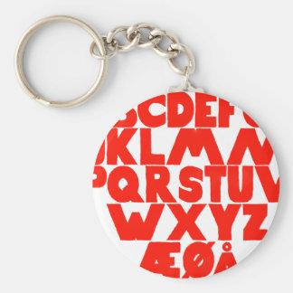 Norwegian Alphabet Key Ring