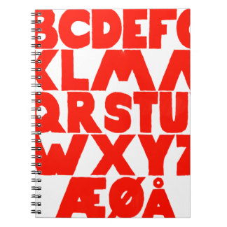 Norwegian Alphabet Notebook