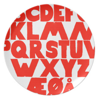 Norwegian Alphabet Plate