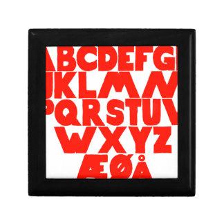 Norwegian Alphabet Small Square Gift Box