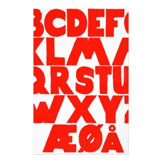 Norwegian Alphabet Stationery
