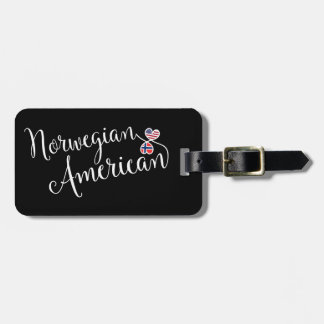 Norwegian American Entwined Heart Luggage Tag