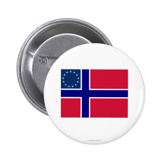 Norwegian-American Flag Button