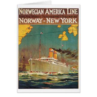 Norwegian American Line Greeting Card
