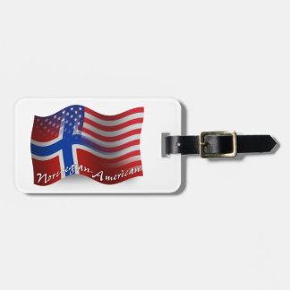 Norwegian-American Waving Flag Tags For Luggage