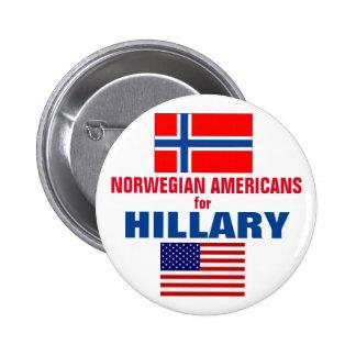 Norwegian Americans for Hillary 2016 6 Cm Round Badge