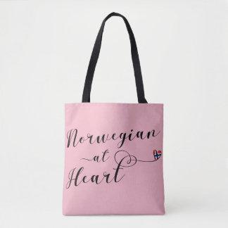 Norwegian At Heart Grocery Bag, Norway Tote Bag