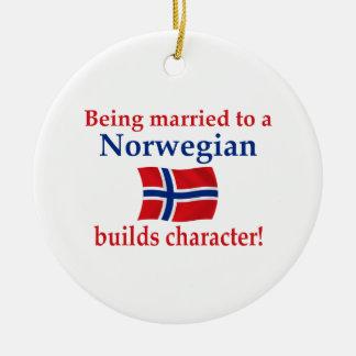 Norwegian Builds Character Ceramic Ornament