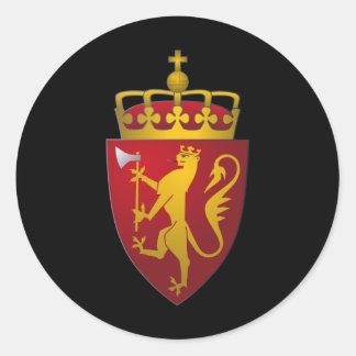 Norwegian Coat of Arms Scandinavian Heraldry Round Sticker