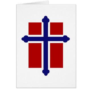 Norwegian Cross Flag Greeting Card