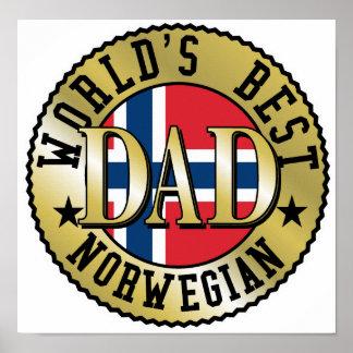 Norwegian Dad Poster