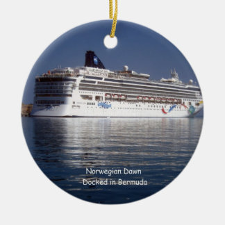 Norwegian Dawn Docked #2 Ceramic Ornament