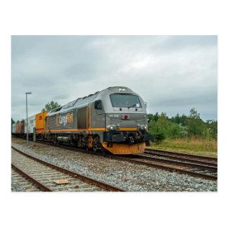 Norwegian diesel hauled containertrain postcard