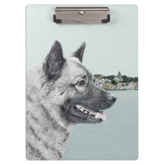 Norwegian Elkhound Clipboard