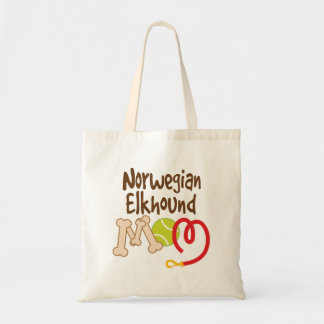 Norwegian Elkhound Dog Breed Mom Gift Tote Bag