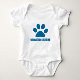 NORWEGIAN ELKHOUND DOG DESIGNS BABY BODYSUIT