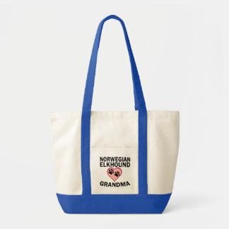 Norwegian Elkhound Grandma Tote Bag