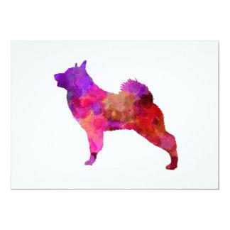 Norwegian Elkhound in watercolor Card