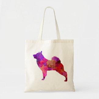 Norwegian Elkhound in watercolor Tote Bag