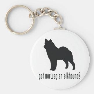 Norwegian Elkhound Key Ring