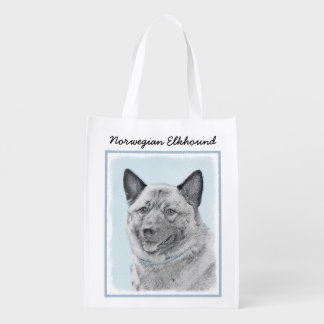 Norwegian Elkhound Reusable Grocery Bag