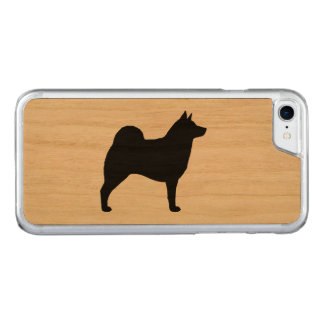 Norwegian Elkhound Silhouette Carved iPhone 8/7 Case
