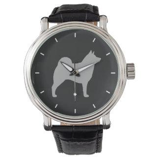 Norwegian Elkhound Silhouette Watch